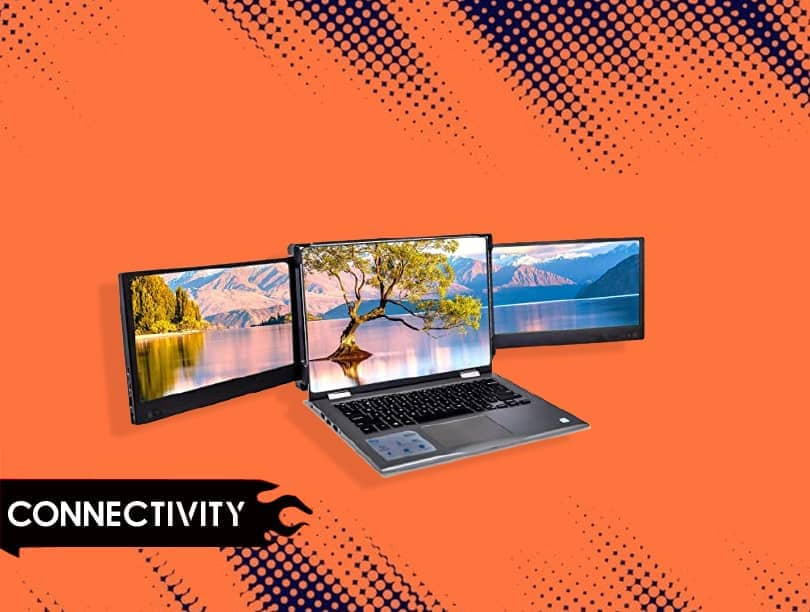 Connectivity of LTAIN 1080P USB Portable Monitor