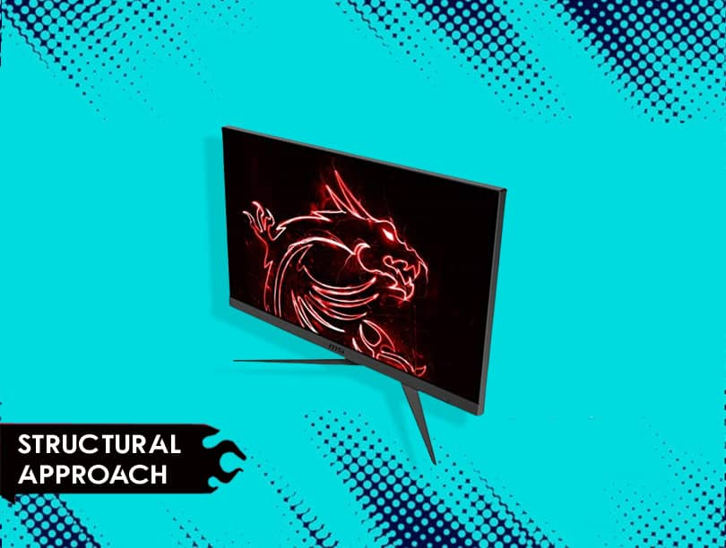 Structural Approach of MSI Optix G242 Anti-Glare FHD Gaming Monitor