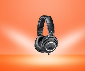Audio-Technica ATH-M50X Headphones (Best for Studio Monitors)