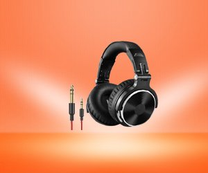 OneOdio Foldable Headphone, Mic for Recording Monitoring Guitar